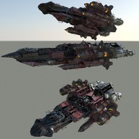 3d model fighter ship space