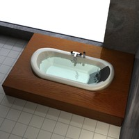 bathtub bathroom 3d max
