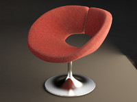 3d model bar chair futuristic