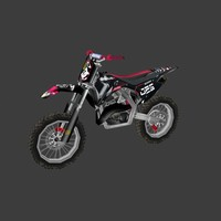 low poly dirt bike 08