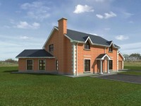 single house render dxf