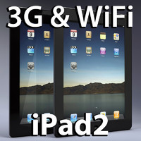 3d apple ipad2 ipad