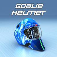 maya ice hockey goalie helmet