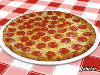 3d model pizza diavola