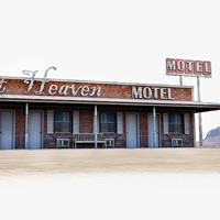 3ds max photorealistic highway motel