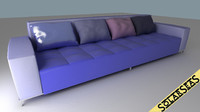 sofa hires shaders 3d model