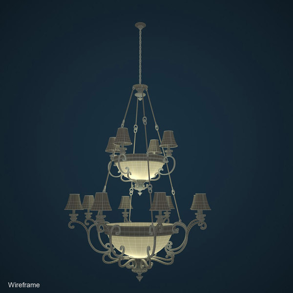 3d chandelier 2008 model - Chandelier... by niklay