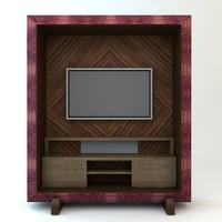tv details materials 3d model