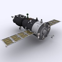 3ds max spaceship soyuz tma