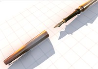 3d dxf fountain pen