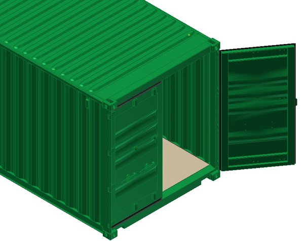 40ft iso shipping container 3d ige - 40FT ISO Shipping Container... by The Burl 1