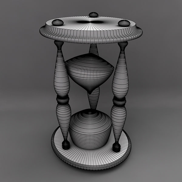 3d hourglass hour glass - Hourglass... by makeionesco