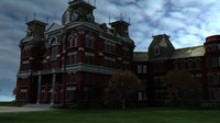 insane asylum kirkbride 3d model