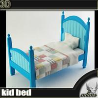kid bed 3d max