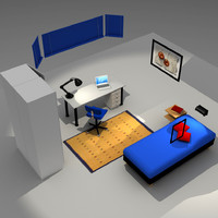 bedroom house 3d model