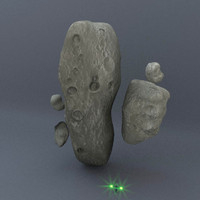 3d model set asteroids