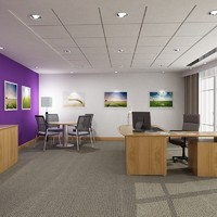 3d max office interior