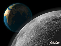 earth moon 3d max