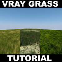 VRAY Grass Tutorial 2012
