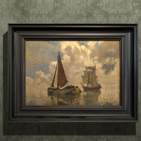 3ds antique oil painting