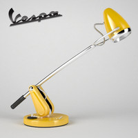 retro vespa table lamp 3d model