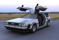 3d bttf delorean model