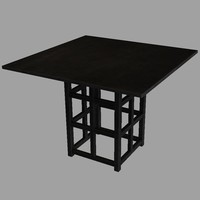 3d mackintosh table model