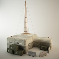 bunker concrete 3d model