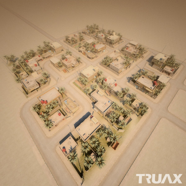 3d arab city street model - Arab City - Set 03... by Truax Studio