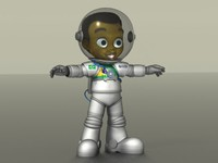 3d model of cartoon boy astronaut