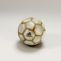 old soccer ball 3d model