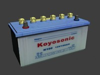 3d car battery 12 v model