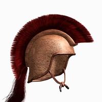 3ds max punic helmet iberian horsehair