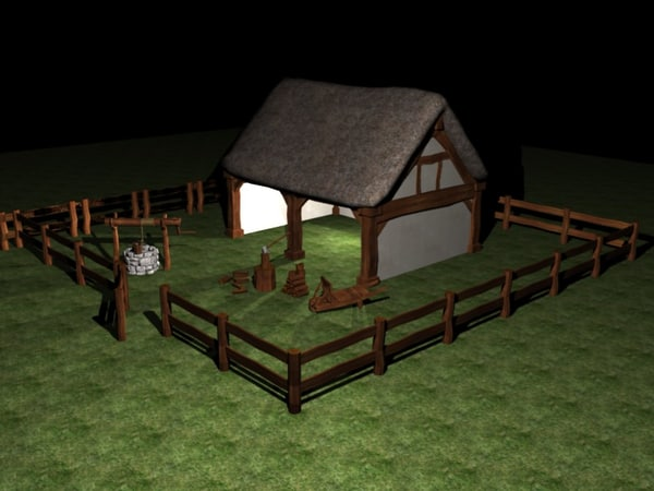 blend medieval barn - Medieval Barn... by Slappiebob