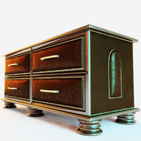 3d model chest drawer parma -