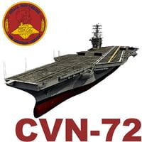 uss abraham cvn-72 3d max
