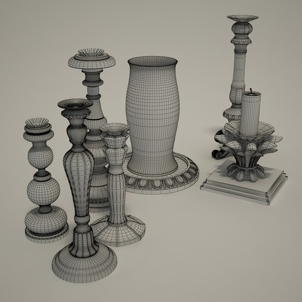 v-ray - 3d model - Chelini - Candlestick... by dimosbarbos