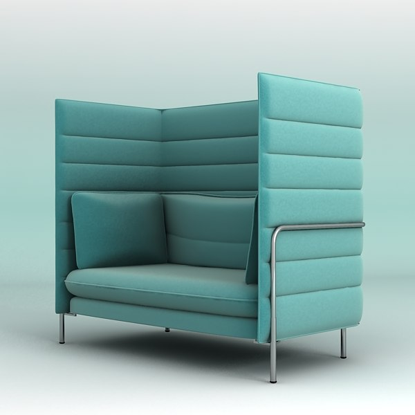3d vitra alcove chair. Black Bedroom Furniture Sets. Home Design Ideas