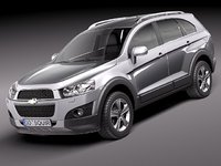 chevrolet captiva 2012 suv 3d model