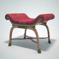 classical bench 3d max