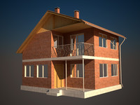 3dsmax country cottage