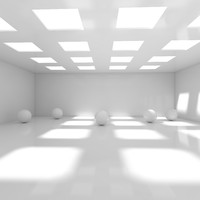 Empty Room With Spheres