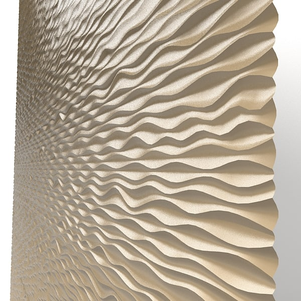 panel decorative 3d wave mdf modern laser perforated wall board art