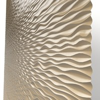 3d panel decorative wave