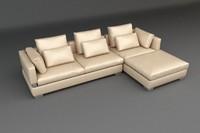 3d model leather pillow