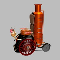 3d fantasy steampunk wheelchair