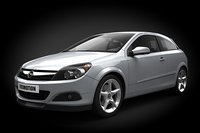 3d car opel astra iii model