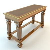 baroque table 3d model
