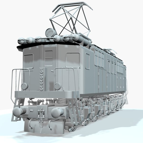 3d model electric locomotive - Locomotive... by mechanick