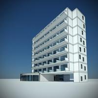 3d hotel architecture